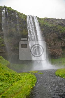 Fototapeta Waterfall Seljalandsfoss in the south coast of Iceland.
