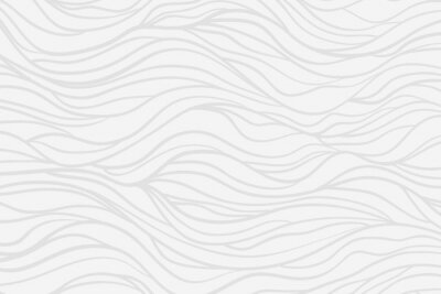 Fototapeta Wavy background. Hand drawn waves. Stripe texture with many lines. Waved pattern. Line art. Black and white illustration