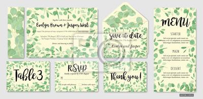 Fototapeta Wedding Invite Invitation Menu Envelope Rsvp Thank You Card