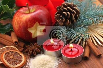 Fototapeta Weihnachtszeit - Apfel