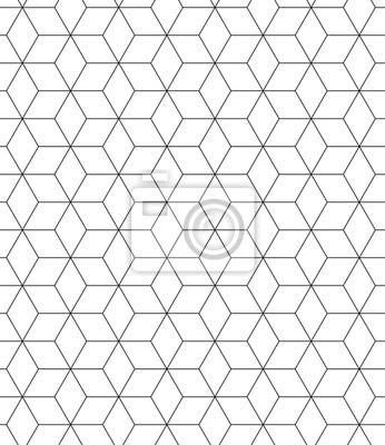 Fototapeta Wektor bez szwu czarno-biały wzór świętej geometrii, Nowoczesny druku tekstylny z iluzji, tekstury abstrakcyjny, tło Powtarzanie symetryczne