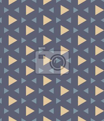 Fototapeta Wektor bez szwu kolorowe nowoczesna geometria wzór trójkąta wielokąta, kolor niebieski abstrakcyjne geometryczne tło, trendy wielobarwny druk, retro tekstury, projektowanie mody hipster
