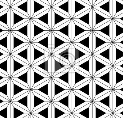 Fototapeta Wektor bez szwu święta geometria, Nowoczesny druku tekstylny z iluzji, niekończące się tekstury, tła powtarzając symetryczna