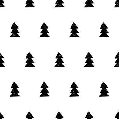 Fototapeta Wektor Boże Narodzenie wzór z drzewa xmas. stylu skandynawskim.