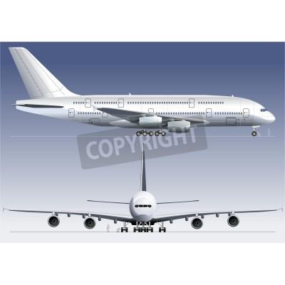 Fototapeta Wektor dwupokładowy Lagest Jetliner A380