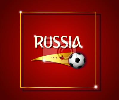 Fototapeta Wektor Eps 10 Rosja Piłka Nożna Konkurencji Plakat Do Sieci I