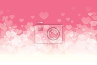 Fototapeta Wektor Happy Valentines Day z migającym serca i różowe tło wzór.