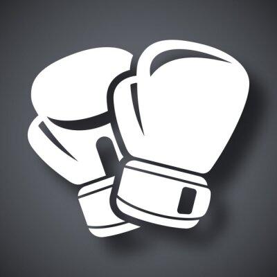 Fototapeta Wektor ikona rękawice bokserskie