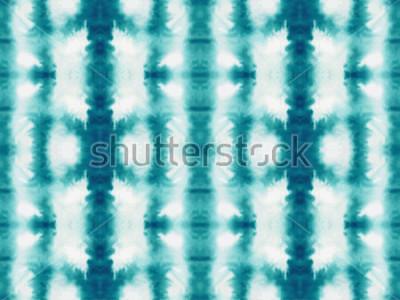 Fototapeta Wektor krawat barwnik szwu. Ręcznie rysowane shibori print. Atrament teksturowanej tło japońskie. Nowoczesne płytki tapety batik. Akwarele niekończące się tło.