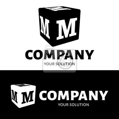 Wektor Literę M Logo Kostka Z Literą M Logo Marki Fototapeta