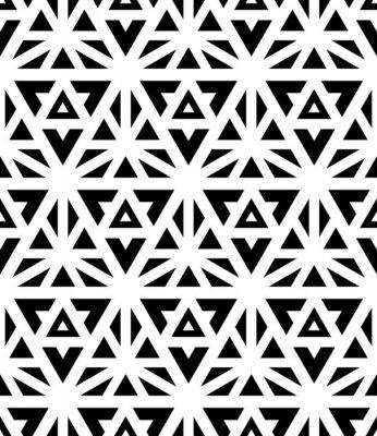 Fototapeta Wektor nowoczesny szwu święta geometria, czarny i biały nadruk tekstylny, abstrakcyjne tekstury, projektowanie monochromatyczny mody