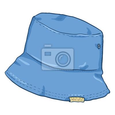 d11efe92d43e89 Fototapeta Wektor pojedynczy kapelusz wiadro kreskówka. Urban Street Style.
