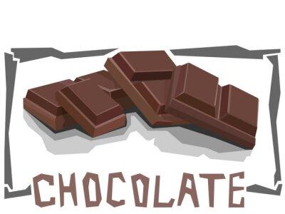 Fototapeta Wektor prosta ilustracja czekolady.