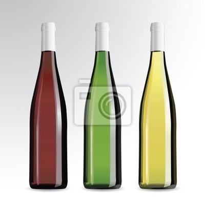 Wektor realistyczne butelki wina i szampana