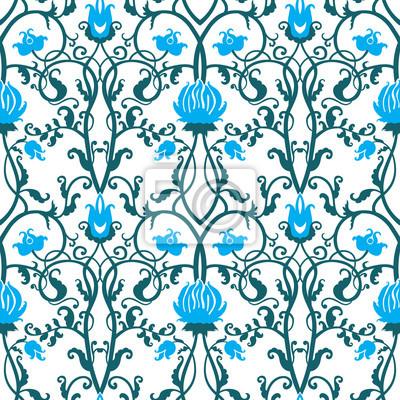 Fototapeta wektor rocznika kwiatów wzór
