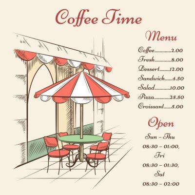 Fototapeta Wektor Street Cafe plakaty