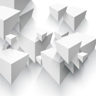 Fototapeta Wektor Streszczenie geometryczny kształt z szarej kostki.