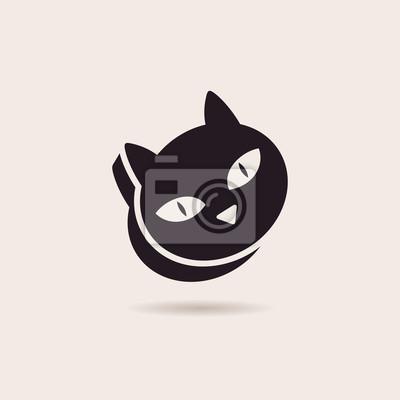 Fototapeta Wektor symbol kotów. Stylizowane ilustracja sylwetka