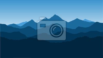 Fototapeta Wektor tapety z krajobrazem, pasmo górskie