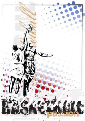 Fototapeta wektor tło plakatu koszykówka