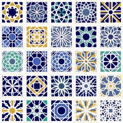 Fototapeta Wektor Zestaw geometryczne wzory