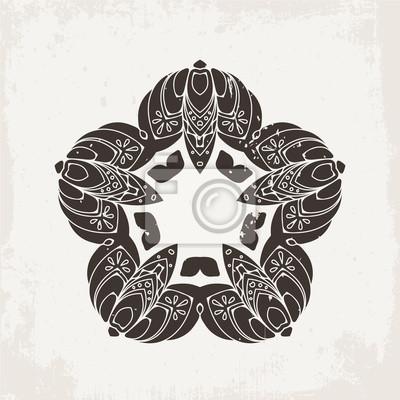 Wektorowa Mandala Tatuaż Z Koronki Mehndi Orientalny Splot