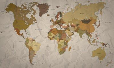 Fototapeta Weltkarte - historyczne Karte mit Verlauf (Hoher Detailgrad)