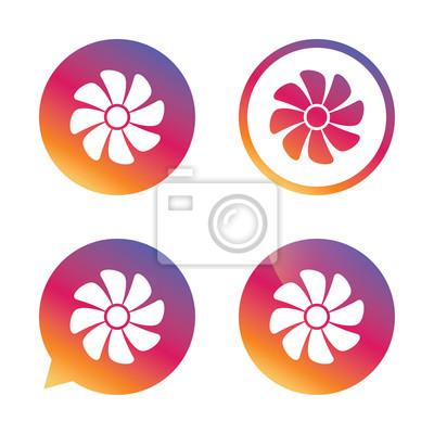 Wentylacja znak ikona. Symbol respiratora.
