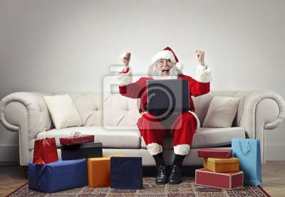 Fototapeta Wesoły Święty Mikołaj