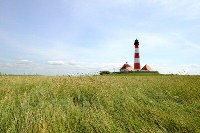 Fototapeta Westerhever Lighthouse - Morze Północne