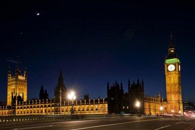Fototapeta Westminster i Big Ben w nocy