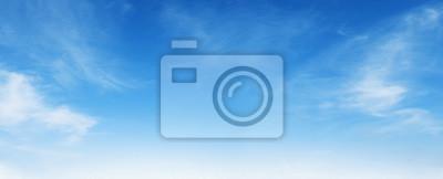 Fototapeta white cloud with blue sky background