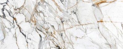 Fototapeta White Cracked Marble rock stone marble texture wallpaper background