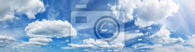 Fototapeta white fluffy clouds on blue sky in summer