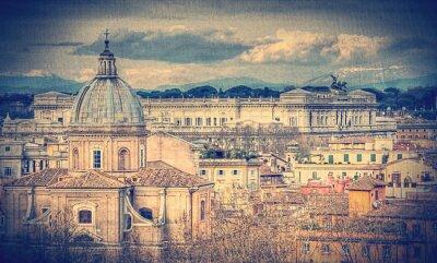 Fototapeta Widok na Rzym. Retro stonowanych zdjęcia