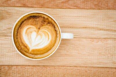 Fototapeta Widok serca składa się z kawy
