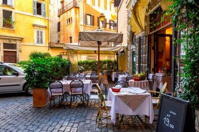 Fototapeta Widok starego kameralnej ulicy w Rzymie