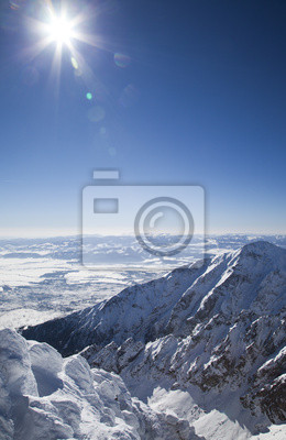 Widok z Łomnicki Szczyt - szczyt w Tatrach Wysokich na Słowacji
