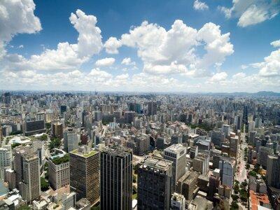 Fototapeta Widok z lotu ptaka Anhangabau Valley, Sao Paulo, Brazylia