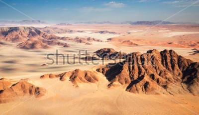 Fototapeta Widok z lotu ptaka Namib pustynia, część Sossusvlei.