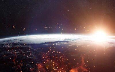 Fototapeta Widok Ziemi z przestrzeni kosmicznej. Elementy tego zdjęcia dostarczone przez NASA