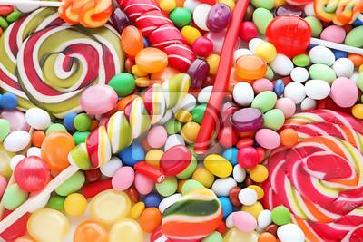 Fototapeta Wiele różnych cukierków, zbliżenie