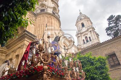 Fototapeta Wielki Tydzień w Maladze, w Hiszpanii. Dulce Nombre procesji