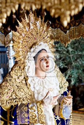 Fototapeta Wielki Tydzień w Maladze, w Hiszpanii. Grace dziewicą.