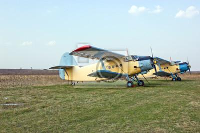 Fototapeta Wielkie samoloty rolnicze i gaszenia