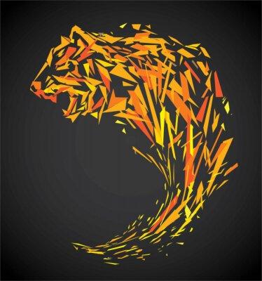 Fototapeta wielokąt tygrysa