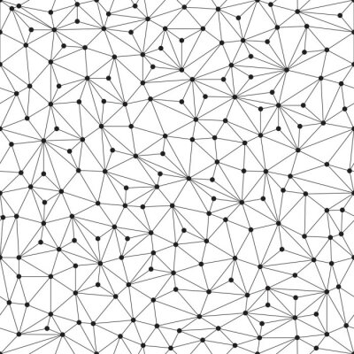 Fototapeta Wielokąta tło, bez szwu wzór, linie i okręgi