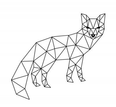 Fototapeta wielokątne fox