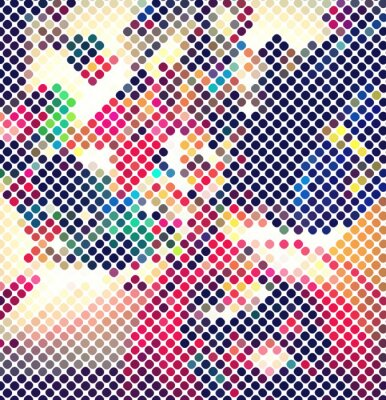 Fototapeta wielokolorowy abstrakcyjne światła disco wektorowe eps 10