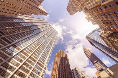 Fototapeta Wielu skyskrapers biura